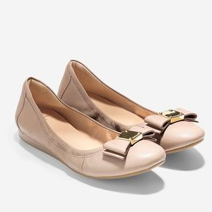 Cole Haan Tali Bow Ballet Flat Maple Sugar 10.5
